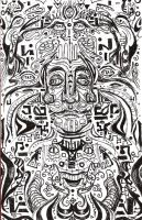 hand drawn mirroring, psychedelic by Tallis