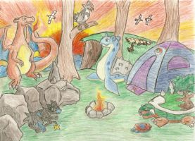 .:My Pokemon Team at sunset:.