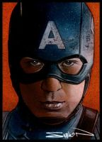 Captain America Sketch Card 2 by RandySiplon