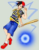 Ness- PK Thunder -OLD- by anime-dragon-tamer