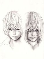 near and Mello death note by plue007