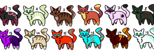 Free Cat Adoptables [Closed] by Firesean