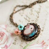 The Cutiest Rabbit necklace by BeautySpotCrafts