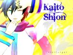 Kaito in the fire by Cougi