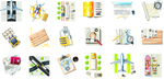 Different Cargo with Transport icons PNG+EPS by AEONFLAX