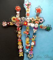 Day of the dead crosses by janedean