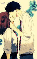 Ao Haru Ride Futaba and Kou by Rawliet