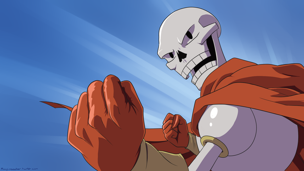 One Punch Papyrus by Moofinseeker