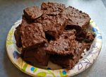 Fudgy Avocado Brownies with Chocolate Fudge by pangolin1