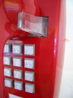 Red Telephone by 3DVISION