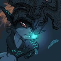 Midna Eating Navi (GIF) by HTF-YTP