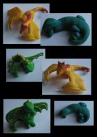 Fimo Dragons by Painted-Shadow