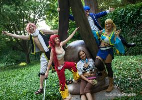 Fairy Tail Cosplay - Happy Family A-Kon 24 by firecloak