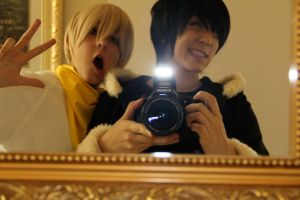 Messing around ~ Durarara cosplay by OurLivingLegacy