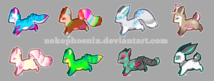 All colours of critters - ADOPTS. SOLD by nekophoenix