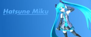 Hatsune Miku Banner 2013 by The-Sky-Is-Up