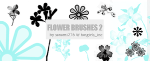 Flower brushes 2 by Sanami276