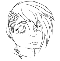 Quick Female Sketch by deadscootaloo