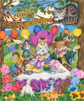 Meowice in Wonderland Cats by bigcatdesigns