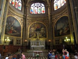 Eglise Saint-Eustache - altar in apse by kwizar