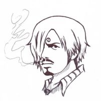 David Beckham As Sanji In One Piece New World by Geilozer