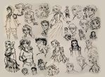 Brush Pen sketches by Anamated