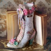 Planting Pot - Victorian Boot Style by YouLookPale