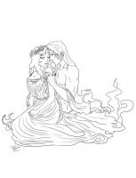 Hades-Persephone-line art by Destinyfall