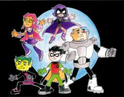 Teen Titans Go by ArtboyDesign