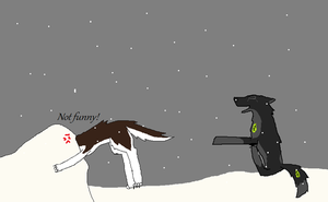 Head Stuck in the Snow- AT with Hannah-Banana3 by Sierra2882