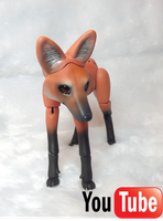Maned Wolf BJD - VIDEO! by vonBorowsky