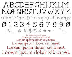 Hand-drawn Typeface Version 1 by moopf