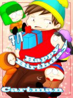 happy birthday cartman by mamepika