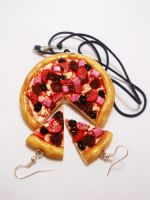 Semi-Realistic Pizza Neclace and Earrings. :) by K3ShaneDawson