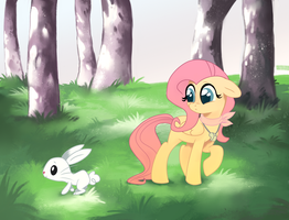 Meeting Angelbunny by Feyrah