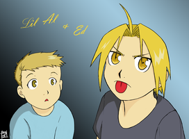 Lil Al and Ed Colored by NovaLynne