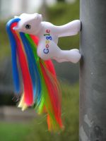 Google Pony on a pole by kaikaku