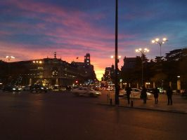 Madrid's sunset by Labramon