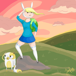 Adventure Time - Fionna and Cake by xxMoonwish
