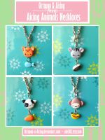 Aicing Animals Necklaces by Octopop-n-Aicing