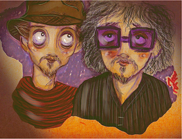 Depp and Burton the heroes by jeroenart