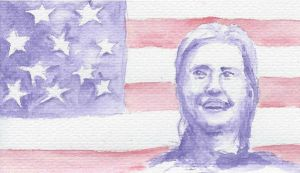 Hillary Clinton positions herself by artvan