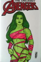 She-Hulk (In the Pink!) by seanpatrick76