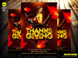 Free Thanksgiving Flyer Template Psd by Industrykidz
