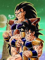 saiyans: battle damaged by BK-81