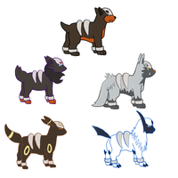 Houndour Variations by KokoKiero