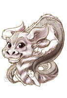 Chibi Falcor finished paints by Bee-chan