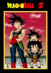 Bardock with his sons by Yugoku-chan