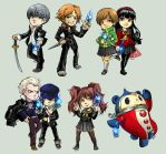 Persona 4 stickers by oneoftwo