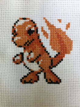 Cross stitched Charmander! by raerit